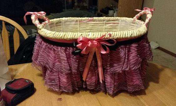 Handmade Book basket for my safari theme baby shower - made by my mom :-)
