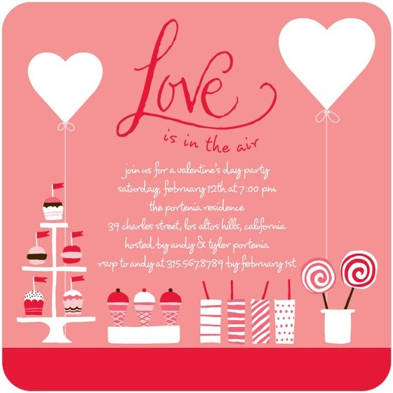 Valentines day party, Valentine's day and Party invitations on ...