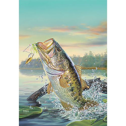 Large Mouth Bass Flag: Flagsrus.org