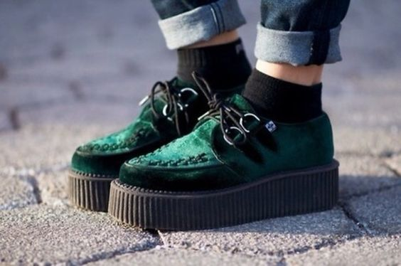 shoes velvet creepers