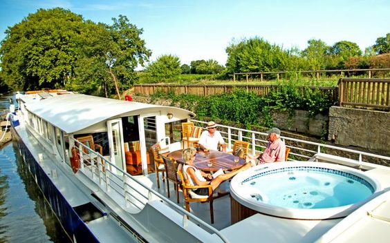 Would you rather be relaxing aboard a luxury hotel barge right now?
