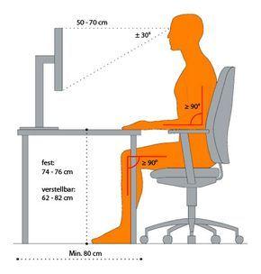 Die Optimale Schreibtischhohe Ergibt Sich Aus Der Korrekten Sitzhaltung Room Setup Office Design Home
