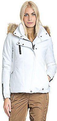 Poivre Blanc Ski-Jacke Damen Anorak Kapuze wattiert Echtpelzbesatz