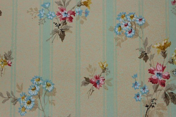 1920's Antique Vintage Wallpaper Bouquets on by RosiesWallpaper, $15.00