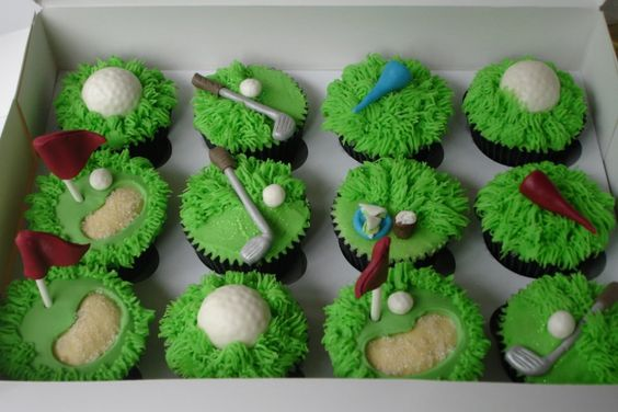 Golf cupcakes, Cupcake ideas and Golf on Pinterest