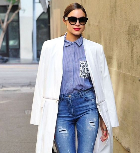 Olivia Culpo's street style game is SO strong. ❤️ (: Michael Simon/startraksphoto)