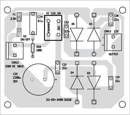 Fig 6 component layout of the power supply pcb car amp 6 component layout of the power supply pcb asfbconference2016