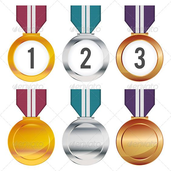 Medals ...  achievement, award, background, bronze, champion, competition, design, element, gold, icon, illustration, laurel, medal, medallion, medals, metal, number, prize, rank, ribbon, sign, silver, success, symbol, trophy, vector, victory, winner, wreath