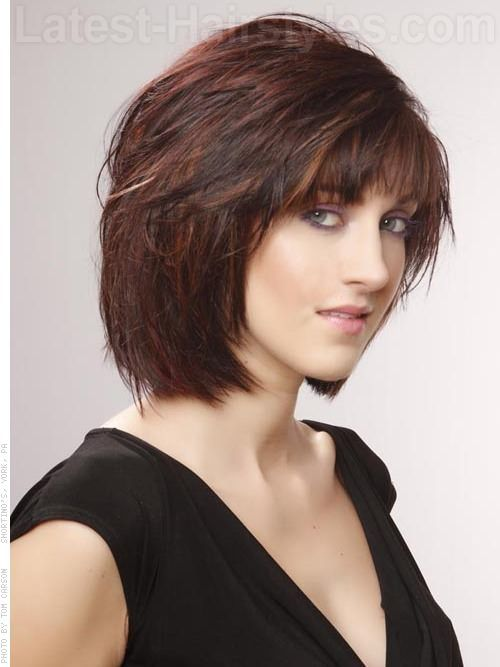 Pleasant Red Highlights Brunettes And Highlights On Pinterest Hairstyles For Men Maxibearus