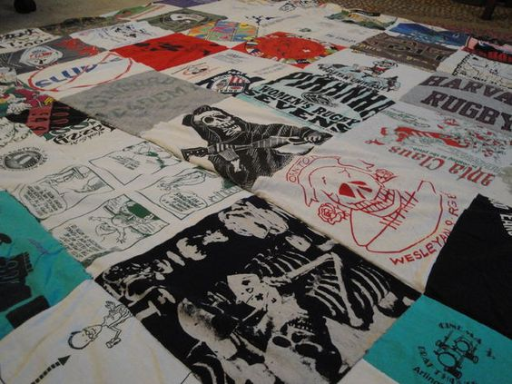 Picture of Make a Quilt from Your Old T-Shirts