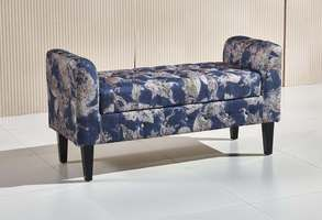 Add extra storage and sitting space to your living room with Abigail Ottoman Bench.