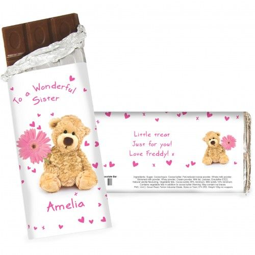 Teddy Flower Chocolate Bar | Chocolate | Exclusively Personal