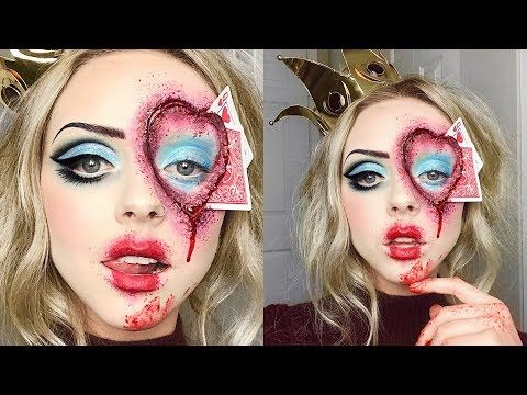 Youtube Queen Of Hearts Hallowqeen Make Up Tutorial Done By Cosmobyhaley Queen Of Hearts Halloween Halloween Makeup Diy Queen Of Hearts Makeup