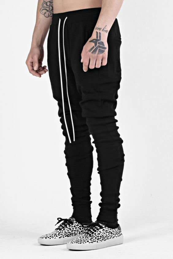 BLACK THERMAL PANTS