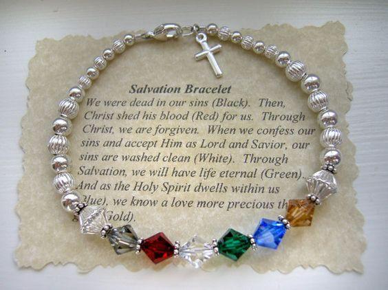 Errettung Gebet Armband 925ER Silber Swarovski von TheShiplettShop