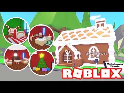 Roblox Adopt Me Hacked Custom Gingerbread House Design Ideas Building Hacks Roblox