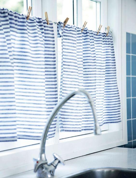 diy kitchen curtain via www.79ideas.org