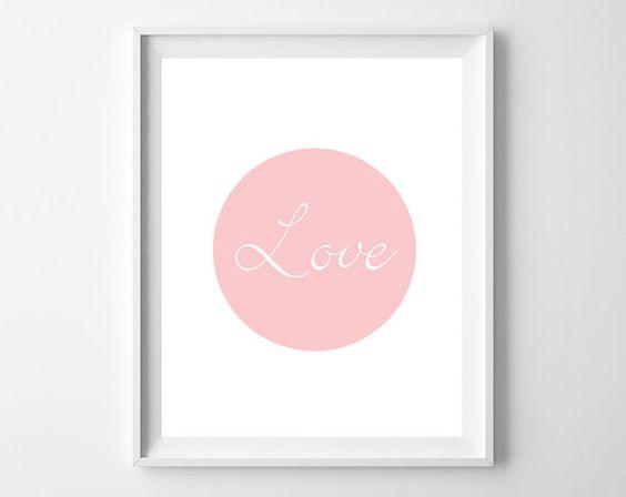 Love Print  Love Art  Minimalist  Simple Art  by KryderPrints, $10.00