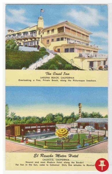 The Coast Inn Laguna Beach California Chrome Postcard