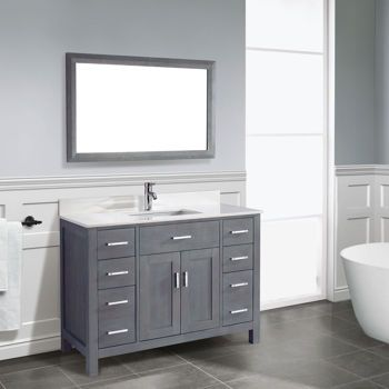 Studio Bathe Kalize 48 French Grey Single Vanity With Mirror Bathroom Pinterest Vanity
