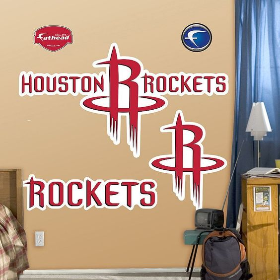 Fathead Houston Rockets Logo Wall Decals, Multicolor