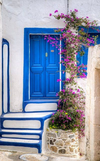 Blue and white.. steps and door at Astipalea Island (Dodecanese), Greece | by Sakis Varkas Europe Travel Tips