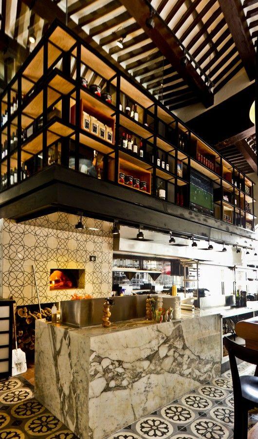 Eclectic design italian restaurants and merida on pinterest for Eclectic restaurant