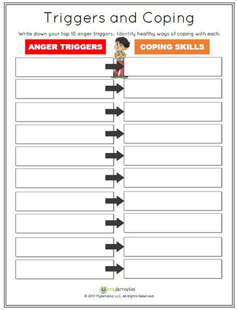 Anger Coping Skills Anger Management Children Printable Worksheets Anger Coping Skills Anger Worksheets Coping Skills