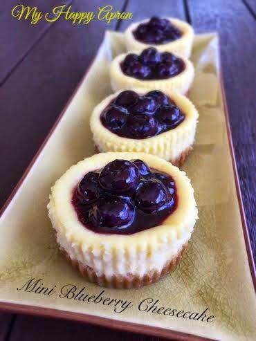 My Happy Apron: Mini Blueberry Cheesecake