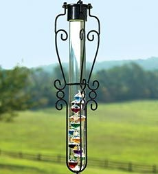 Hanging Outdoor Garden Galileo Thermometer With Scrollwork