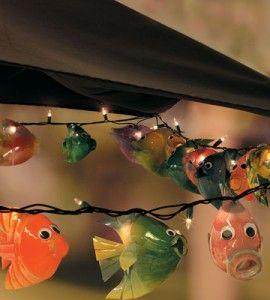 Fish bottle and string lights on pinterest for Fish string lights