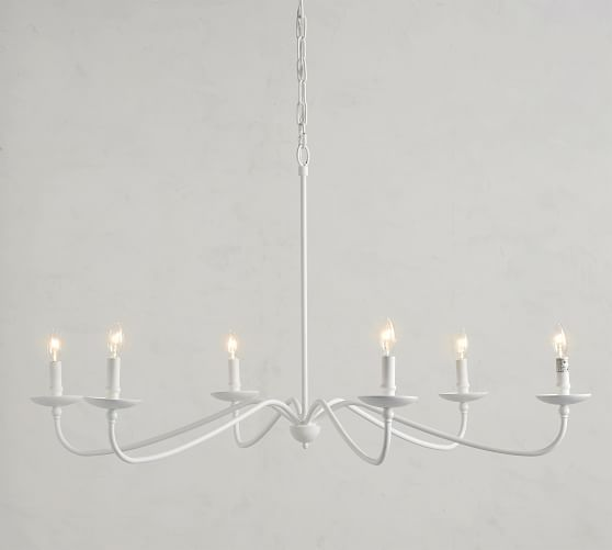 Lucca Chandelier Pottery Barn White Chandelier Dining Room