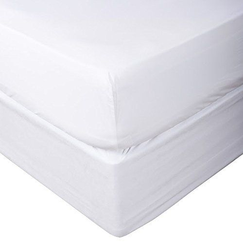 Dreamios One 1 Pcs Fitted Sheet Twin Size With 25 Deep Pocket In White Color And Solid Pattern 100 Egyptian Cot Linen Bed Sheets Fitted Sheet Print Bedding