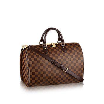 Speedy Bandoulière 35 Damier Azur Canvas - Handbags | LOUIS VUITTON