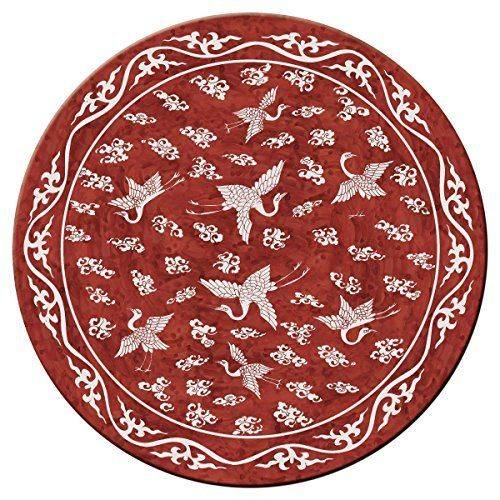 Hadley Table Ming Chinese Red Hard Placemats Round Set Of 4 Placemats Placemats For Round Table Table