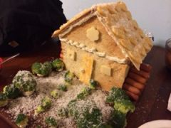 "Savory ""gingerbread"" house"