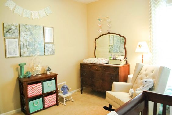 Sophisticated, fun baby girl's  room!