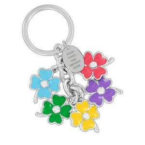 Custom Baroness colored 5 flowers purse charm and keychain (Domestic Production)