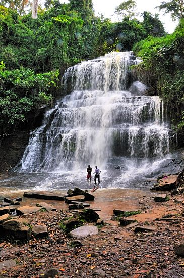 Waterfalls in Ghana Portrait//I would love to visit  this place just to hear the soothing sounds