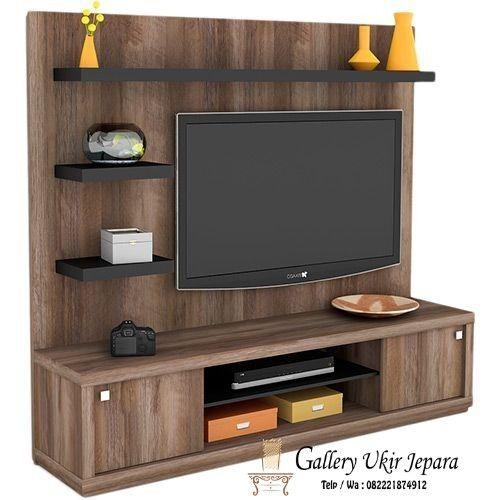 Rak Tv Kayu Jati Minimalis Murah Ini Selain Bisa Sebagai Dudukan Tv Juga Bisa Sebagai Pembatas R Living Room Tv Unit Designs Tv Room Design Wall Tv Unit Design