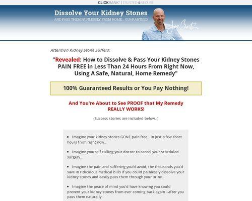 The Kidney Stone Removal Report! Promote Now. Make $. $50 Bonus ...