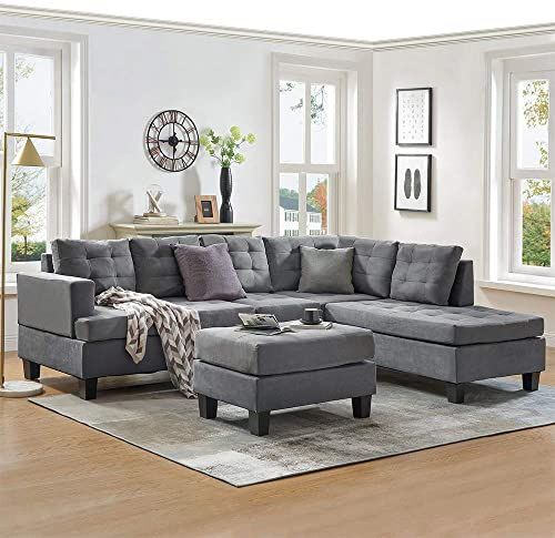 Amazing Offer On Mooseng 3 Piece Sectional Furniture Set Chaise Lounge Storage Ottoman L Shaped Couch Living Room Sofas Grey Online Topofferclothing In 2020 Living Room Furniture Sofas Living Room Sofa Set