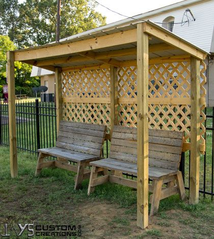 Small rain and sun shelter diy wood projects pinterest for Small garden shelter