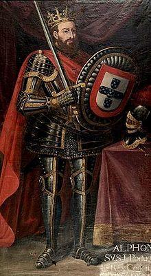 """D. Afonso I, """"O Grande"""" Rei de Portugal (1109-1185) Fundador e primeiro Rei de Portugal."""