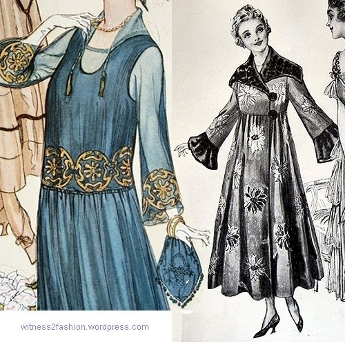 Large scale embroidery and fabric patterns, 1917. Delineator