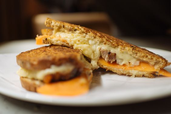 London Cray !!! Hoi Polloi in the Ace Hotel Shoreditch - Grilled Pork Belly Sandwich with pickled carrot and spiced apple!