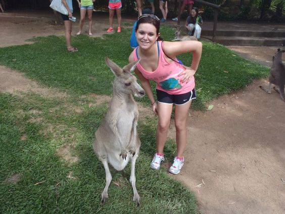 Study Abroad Student Michelle and new friend during first week in Australia. #studyabroad
