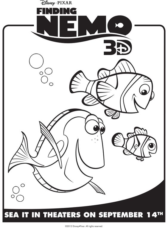 nemo coloring pages to print nemo marlin dory free printable coloring - Crush Finding Nemo Coloring Pages