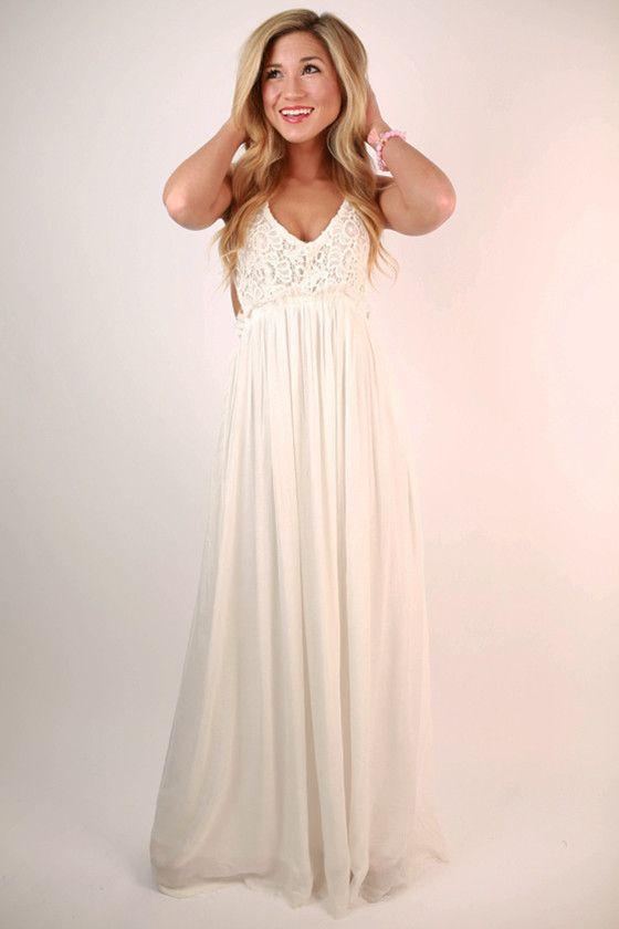 Plain White Maxi Dress