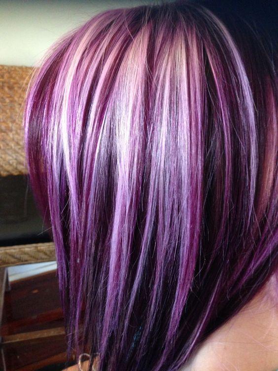 40++ Burgundy hair with blue highlights ideas